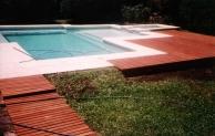 vereda perimetral en atèrmicos cremas. solarium, en madera deck, saligna sector playo pintura: sw 6484